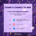 Stand a chance to win a 22Kt Gold pendant